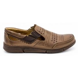 Polbut Men's summer shoes J53 brown