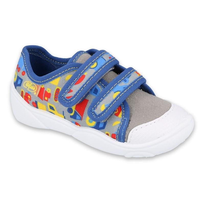 Befado children's shoes 907P128 blue grey multicolored