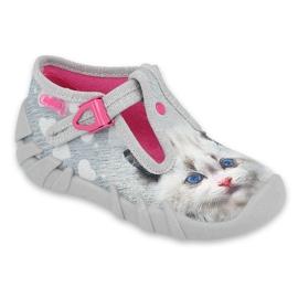Befado children's shoes 110P416 pink grey