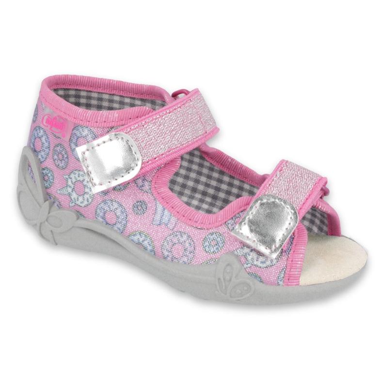 Befado children's shoes 242P106 pink grey