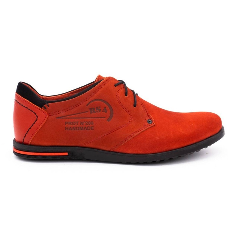 Polbut Men's leather shoes 2103 red