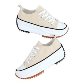 Designer sneakers beige VL137P Beige sole