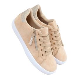 Beige women's beige sneakers C2006