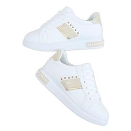 White women's sneakers LA129P Beige