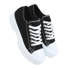 Black women's sneakers LA138 Black