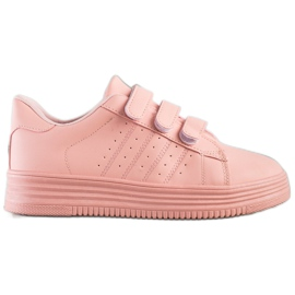 SHELOVET Fashionable Velcro Sneakers pink