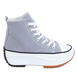 Designer sneakers with blue VL135P L.BLUE sole
