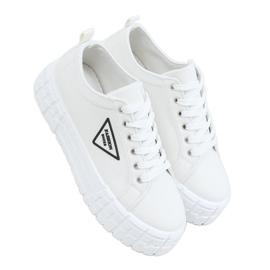 White women's sneakers LA134 White