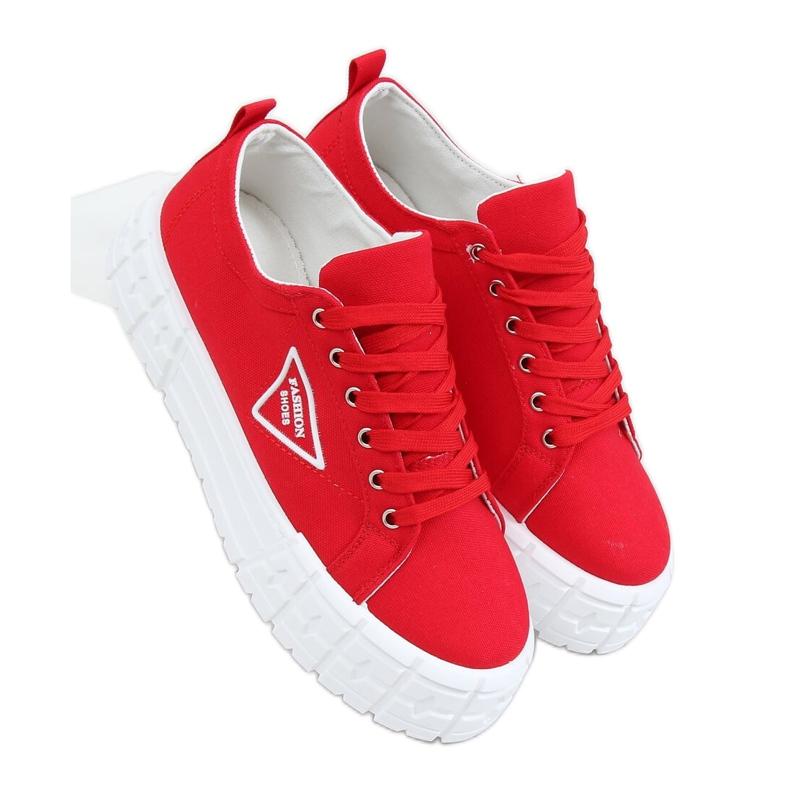 Red women's sneakers LA134 Red