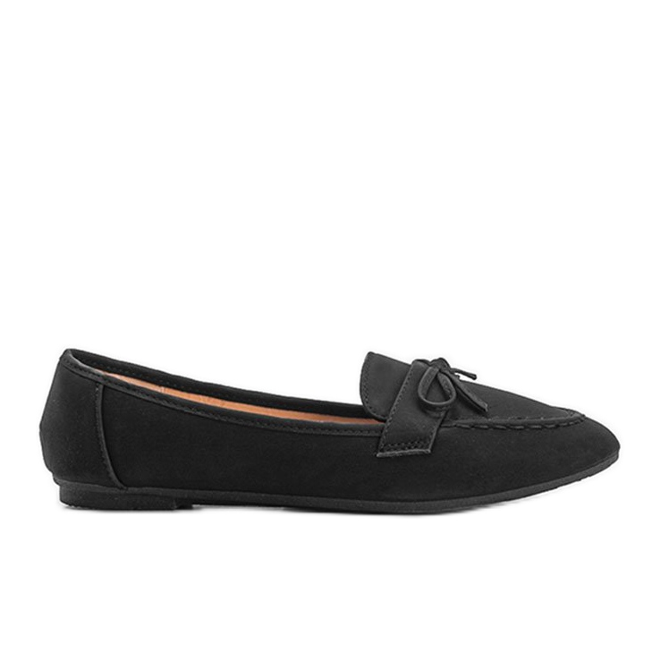 Lena black suede loafers