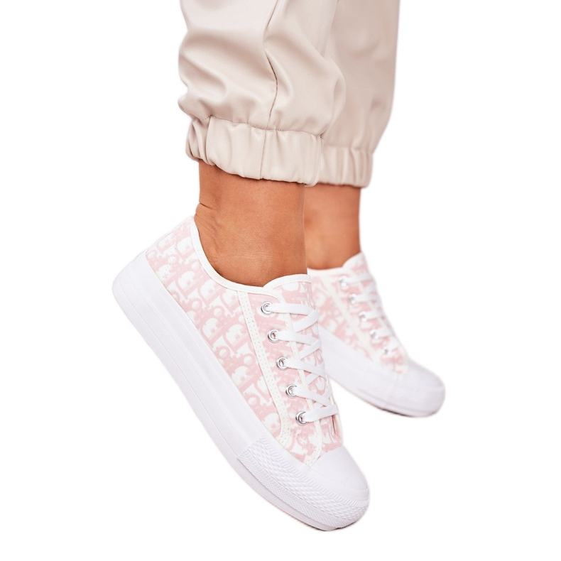 PS1 Daphne Women's Logged Sneakers White and Pink