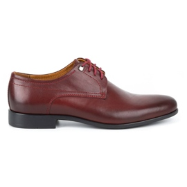 Kampol Men's formal shoes 334/34 burgundy red