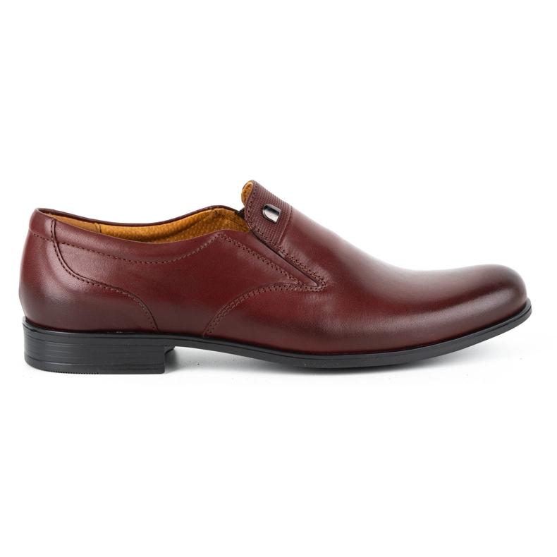 Kampol Men's formal slip-on shoes 343/17 burgundy red