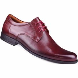 Kampol Men's formal shoes 344/17 / D3 burgundy red