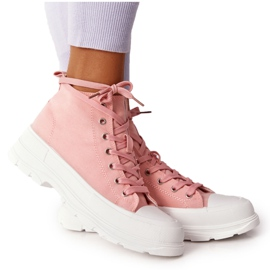 FB2 Women's High Sneakers On A Large Sole Pink Trissy