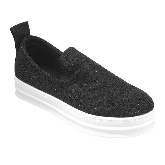 Love Slip On SK73 Black Slip-On Sneakers