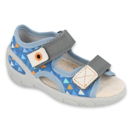 Befado children's shoes pu 065P158 blue grey