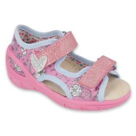 Befado children's shoes pu 065X147 pink silver grey
