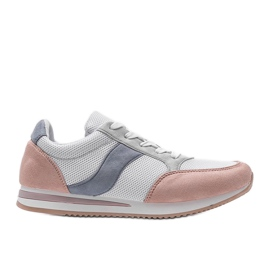 Classic white sneakers with Aniya pink