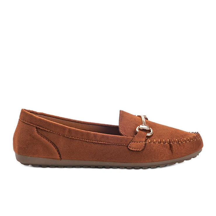 Brown loafers with a Brandy buckle