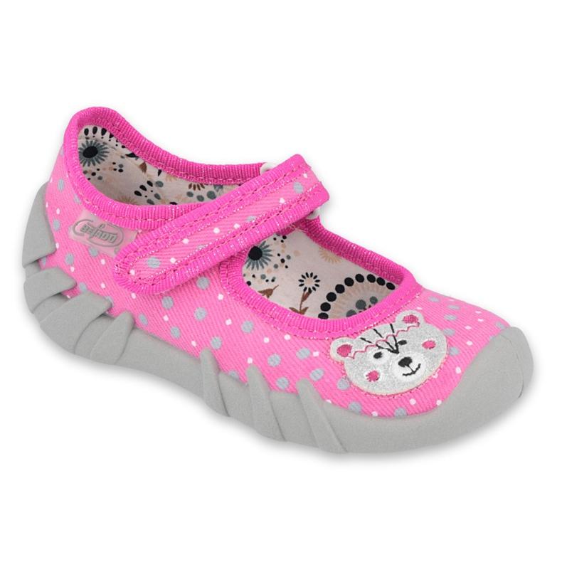 Befado children's shoes 109P209 pink grey