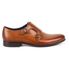 Kampol Men's formal shoes monki 341 / C1 brown