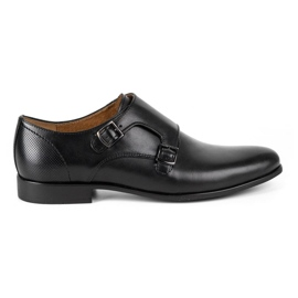 Kampol Men's formal monk shoes 341/15 black