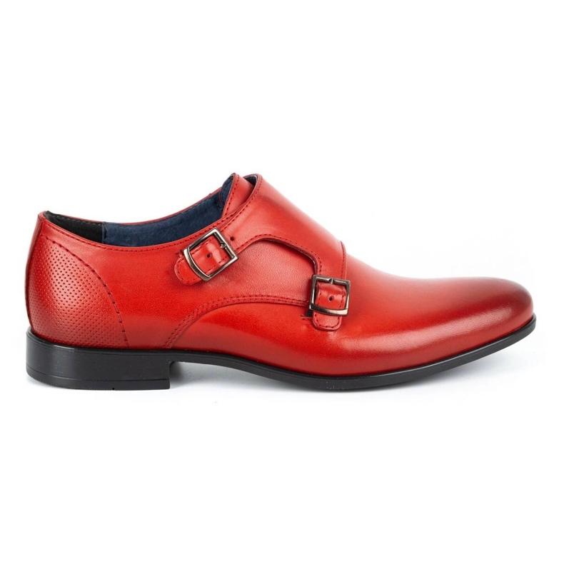 Kampol Men's formal monki shoes 341/39 red