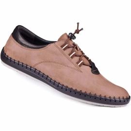 Kampol Casual men's shoes 337 / OL brown beige