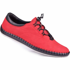 Kampol Casual men's shoes 337/39 red black