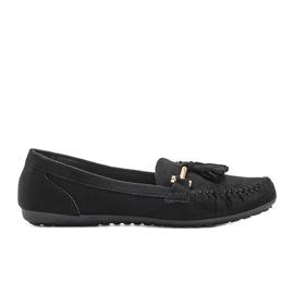 Aubrey black suede loafers