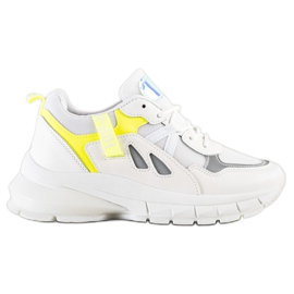SHELOVET Sneakers On The Platform With Mesh white multicolored