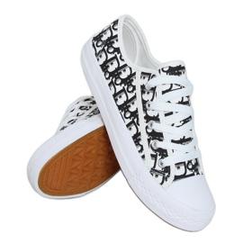 Black women's sneakers XL30P Black white