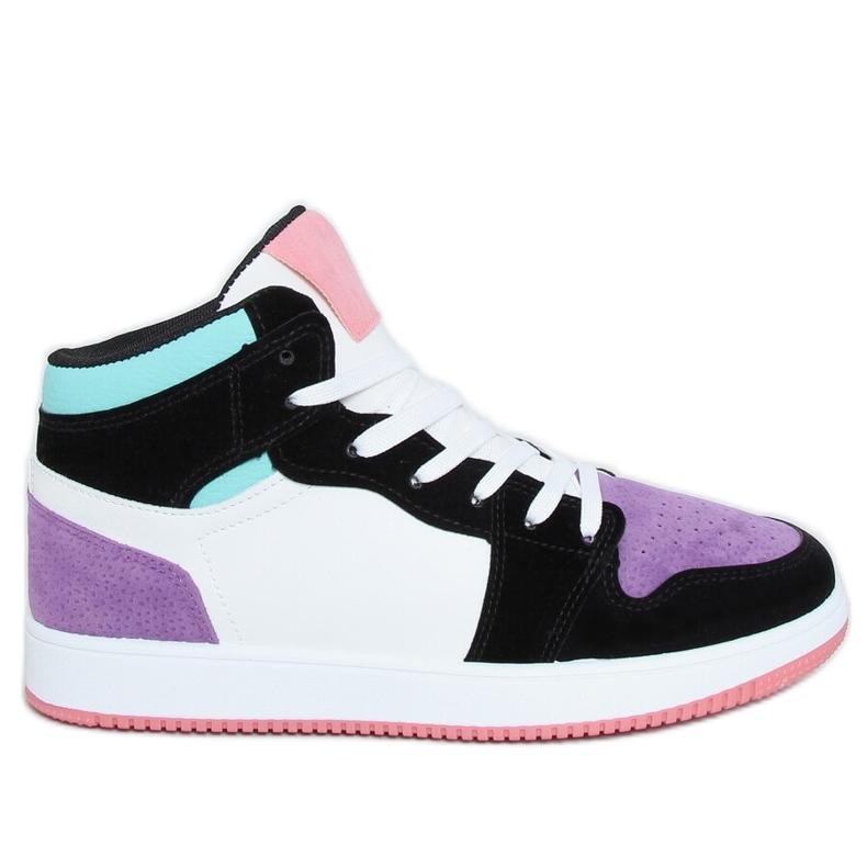 NB505 Purple high-top sneakers multicolored