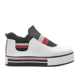 White lacquered sneakers from Kaitlynn