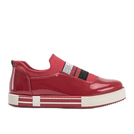 Jayde Patent Leather Sneakers red