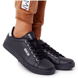 Women's Leather Sneakers Big Star DD274586 Black-Silver