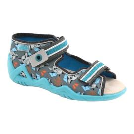 Befado yellow children's shoes 350P021 blue grey