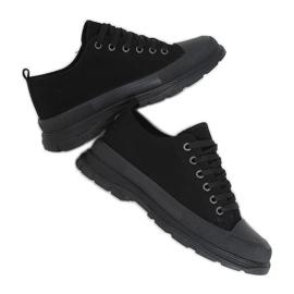 Black women's sneakers (black sole) LA122 Allblack