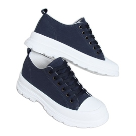 Navy blue women's sneakers LA122 Navy