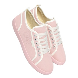 Pink NB385P Pink sneakers white
