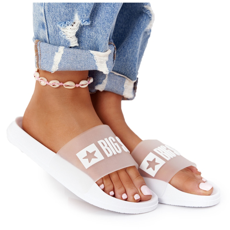 Women's Slippers Big Star FF274A199 White colorless