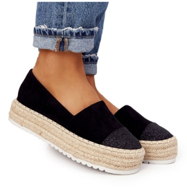 S.Barski Espadrilles On The Straw Platform S. Bararski Black