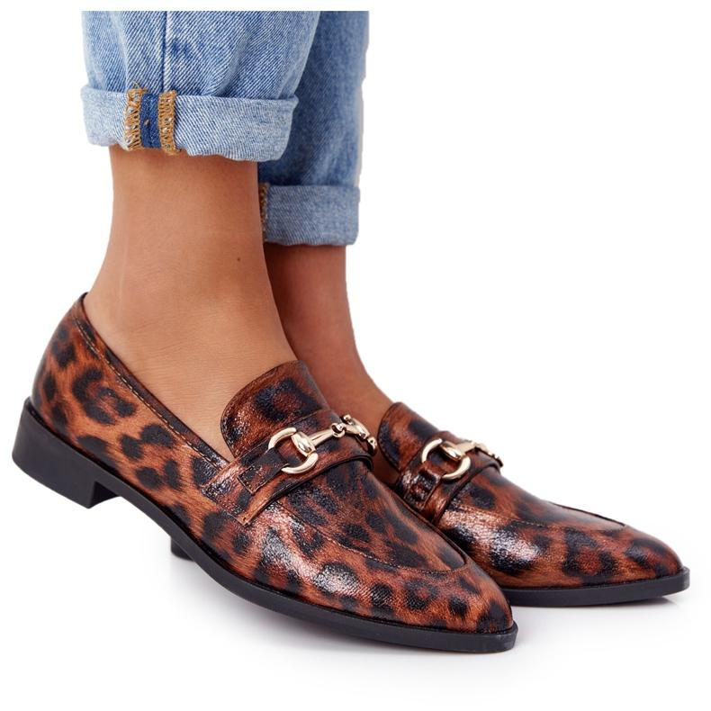 S.Barski Elegant Women's Loafers S. Barski Leopard brown