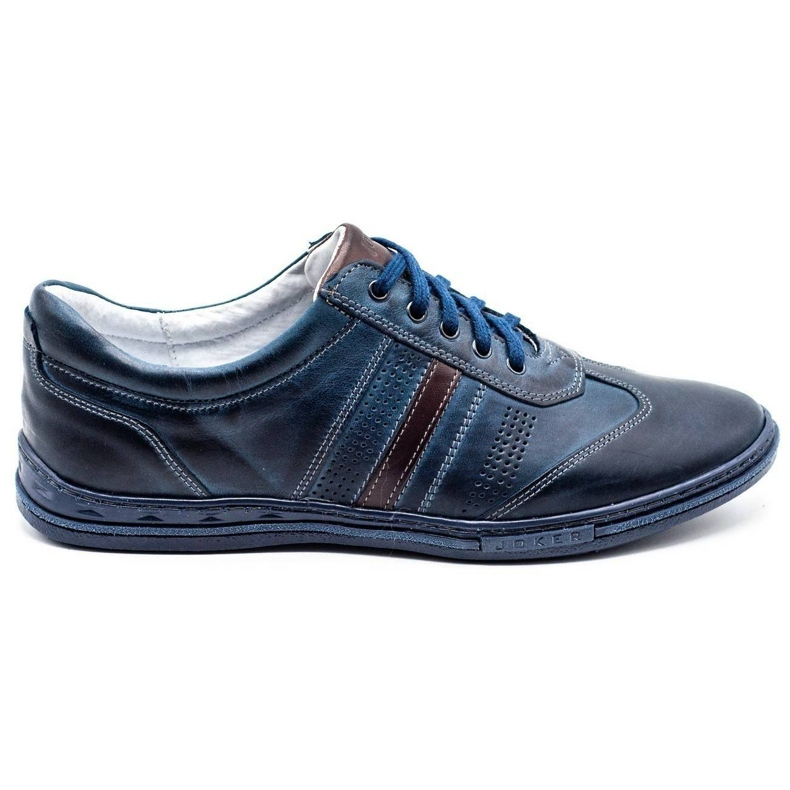 Joker Men's leather shoes 521 navy blue