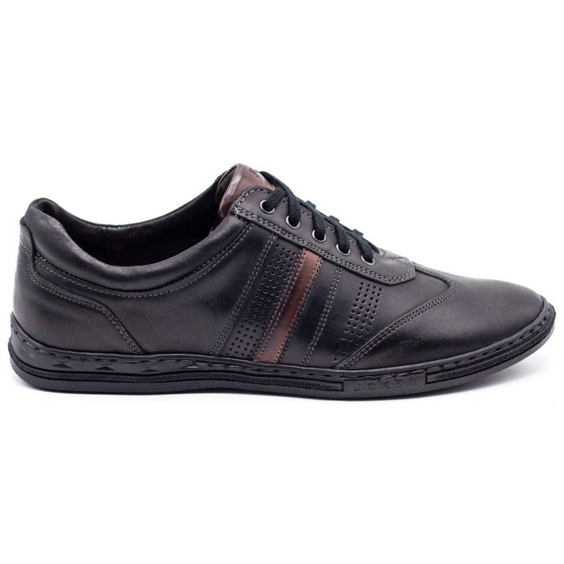 Joker Black men's leather shoes 521