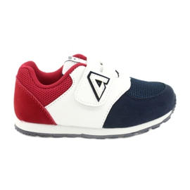 American Club American BS01 BS02 Navy leather insole white red navy blue