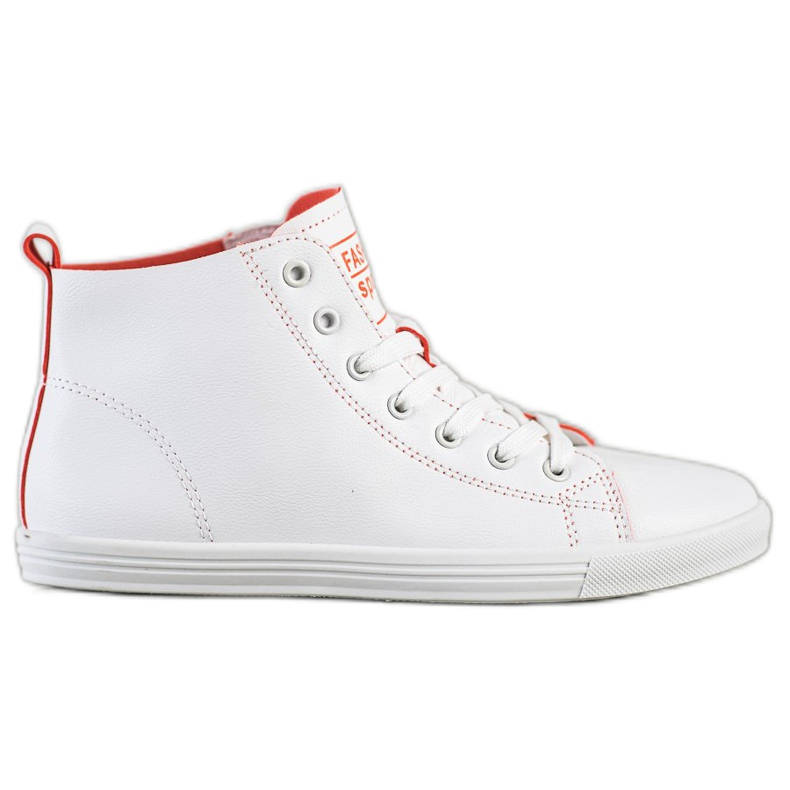 Ideal Shoes High Fashion Sports Shoes Sneakers white