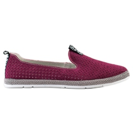 Filippo Casual Leather Slipons red