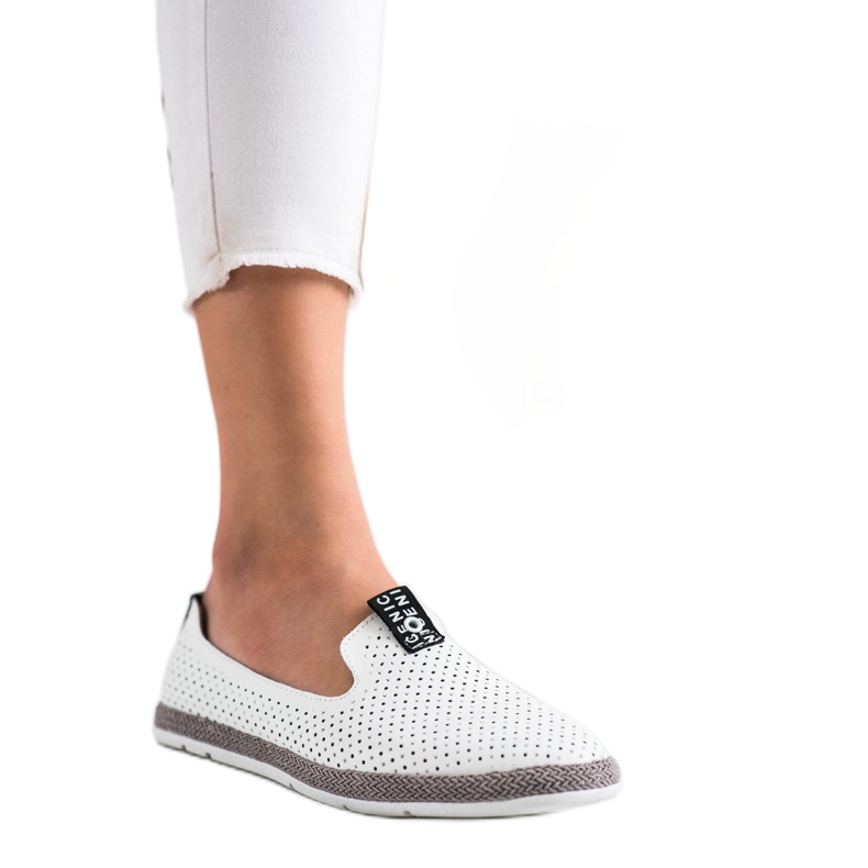 Filippo Casual Leather Slipons white